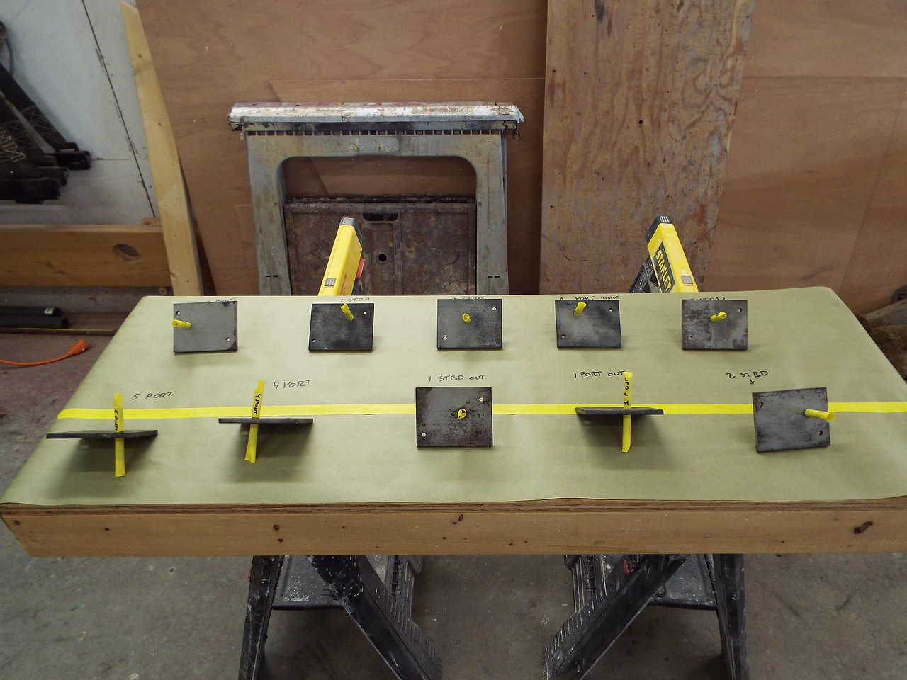 Another view of the seat brackets.