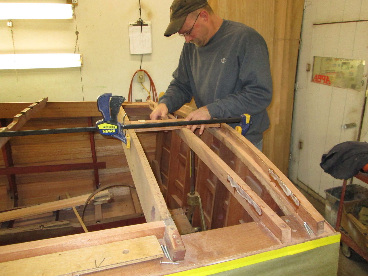New  rear king plank fit and now being installed.