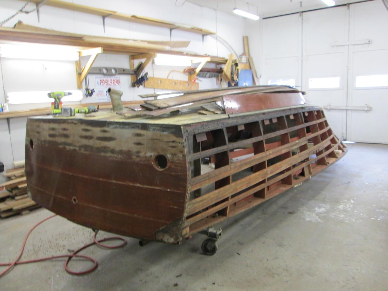 Port side planks removed.