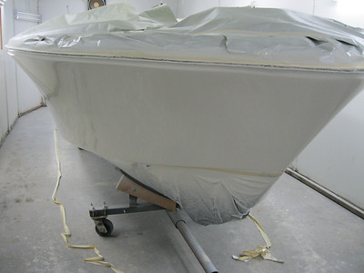 Starboard front view of painted side.