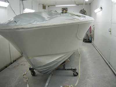 Front port view of side painted.