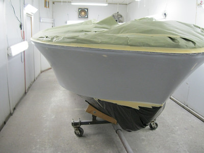 Starboard view ready for paint.