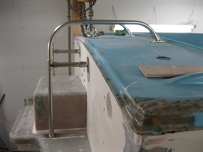 Starboard view of new hand rails.