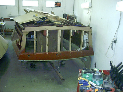 New transom frames with new rear corners.