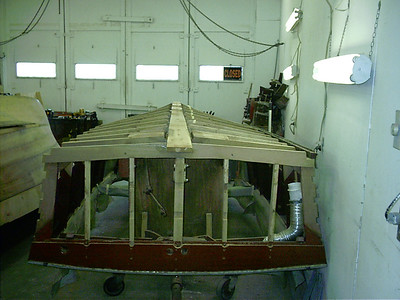 Rear view of new keel.