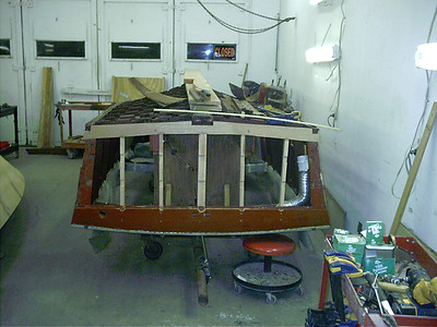 All new transom frames installed.