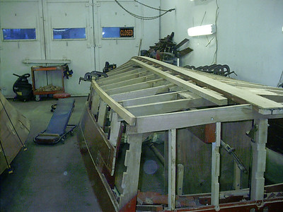 Rear view of starboard chine.