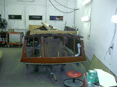 Transom found to be bad and were removed.