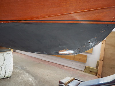 Repairs made to the starboard bottom.