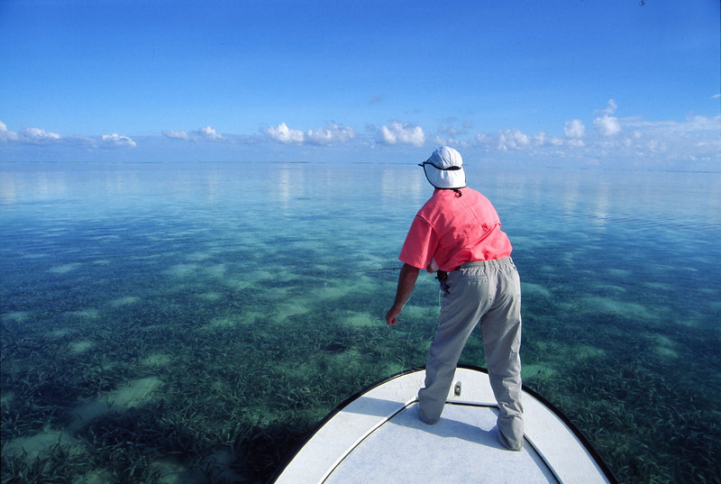 Calm Day Casting to Bonefish Turneffe Belize