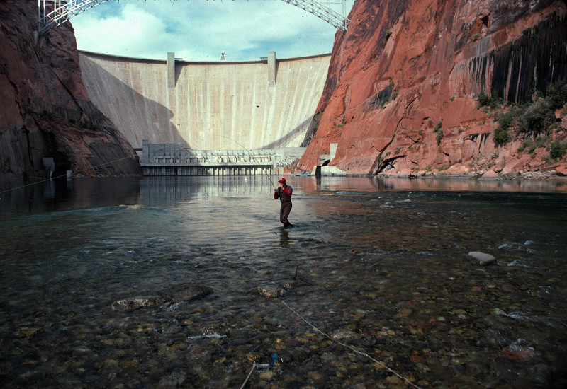Fisherman Below Glen Canyon Dam