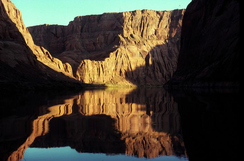 Colorado River below glen Canyon Dam in Glen Canyon
