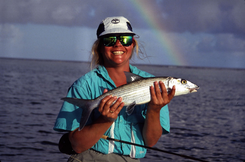 Wendy Gunn Bonefish-Rainbow Fly Fishing Turneffe Belize