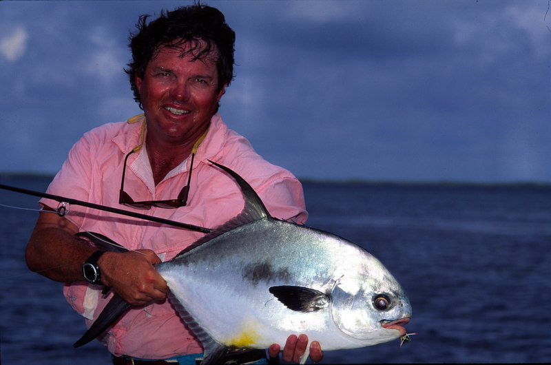 Terry Gunn with Permit and Belize Fly Fishing