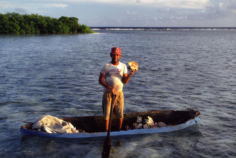 Conch Fisherman Turneffe Belize