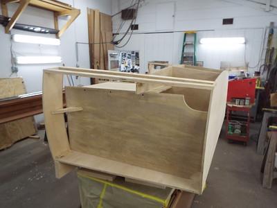 Port side drawer box.