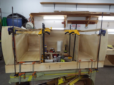 Building both drawer boxes.