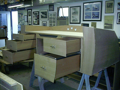 Port view of drawers.