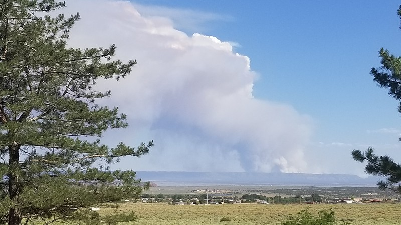 This was early in the fire from my house in Kanab. It was likely a couple thousand acres at this stage. It is now 72,000 acres