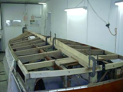 Installing new keel.