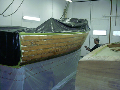 Applying epoxy sealer.