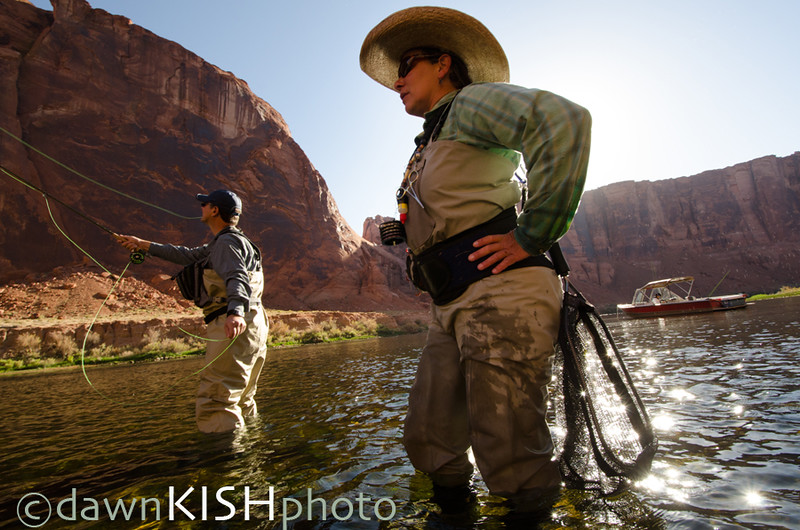 Natalie Jensen, Flyfishing Guide, Lees Ferry, Glen Canyon, AZ