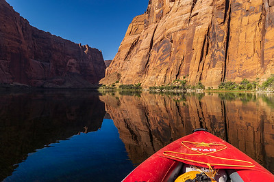 Colorado River View From Kayak Near Ferry Swale Campground in AZ