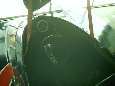 Inside cockpit.