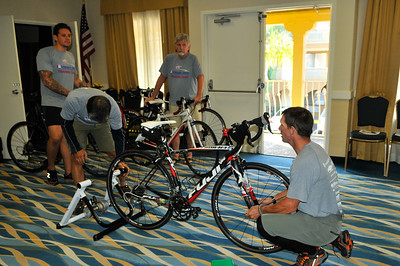 Ride 2 Recovery Project HERO (Healing Exercise Rehabilitation Opportunity) Representatives attend a training camp in San Diego. As a 501(c)(3) organization, R2R helps injured active duty service members and veterans improve their health and wellness through individual and group cycling.