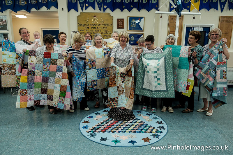 The lovely ladies who helped on the day with Joy! Under the Quilt!