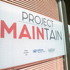 A new group called Project Maintain is trying to help beautify the empty store fronts on Main Street in Fitchburg. The first building they were working on Thursday, March 5, 2020 was at 655 Main Street owned by Rick Boscardin. They hung up some signs in the windows at 655 Main Street. SENTINEL & ENTERPRISE/JOHN LOVE