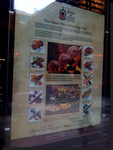 Storefront menu display