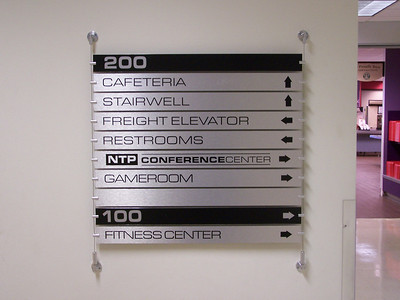 Directional Wall Sign