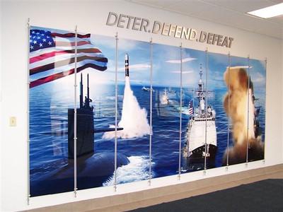 Corporate Wall Rod Display