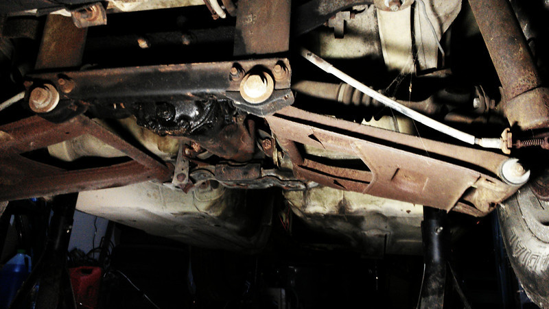 The stock 240Z subframe and rear end.