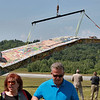 Jerry Beck's Project Soar launched at the Fitchburg Municipal Airport on Tuesday morning, June 12, 2018. The plane is the air for the second time after a mishap that was fixed. SENTINEL & ENTERPRISE/JOHN LOVE
