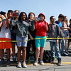 Jerry Beck's Project Soar launched at the Fitchburg Municipal Airport on Tuesday morning, June 12, 2018. Students watch as the plane is lifted into the air. SENTINEL & ENTERPRISE/JOHN LOVE