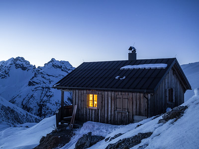 Mountain huts are just cool. Up high, early evening at Leutkircher hutte in @stantonamarlberg