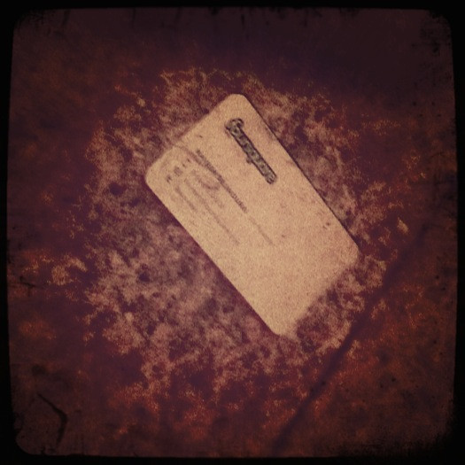 15 march. a lonely business card. who would leave naveen's card behind?