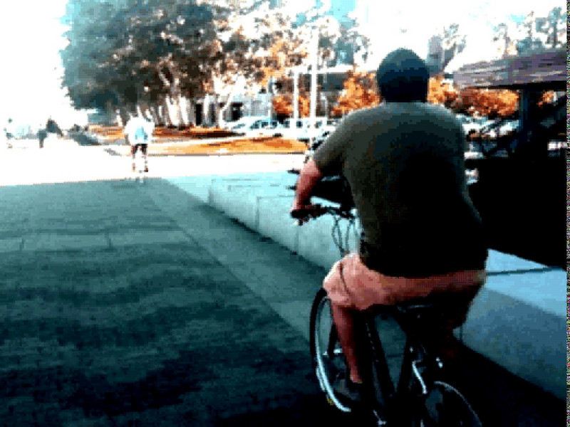 16 october. ryan and jm3 and i had a ride down embarcadero and back. they ride on the sidewalk.