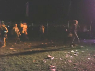 17 october. people running, walking, dancing at the beginning of MGMT's set.