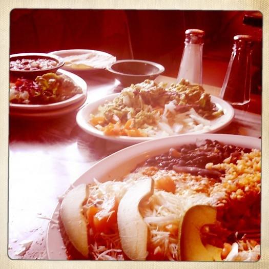13 march. delicious breakfast. mmmm vegetarian entomatadas.