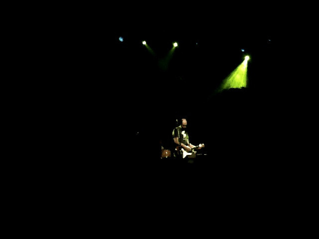 """1 november. first minute of """"the plan"""" by built to spill. concert benefited (red), the aids in africa project."""