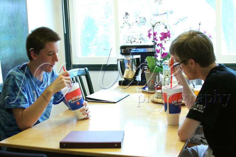 <b>Day 231—19 June 2012 Justified</b>  NTS and his friend Michael (left) <i>love</i> speedy freezes. It's <i>so hot</i> today—the perfect day for such a treat. NTS was sweet enough to buy one for his brother (right).