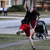 <b>Day 134—14 March 2012 This is the life!</b>  Today was a glorious (and record-breaking) 80-something degrees in Chicagoland! After dinner, DH and NTS went out front to toss the Frisbee. The block was busy with neighbors chatting, walking, running, and so on. Loverly!