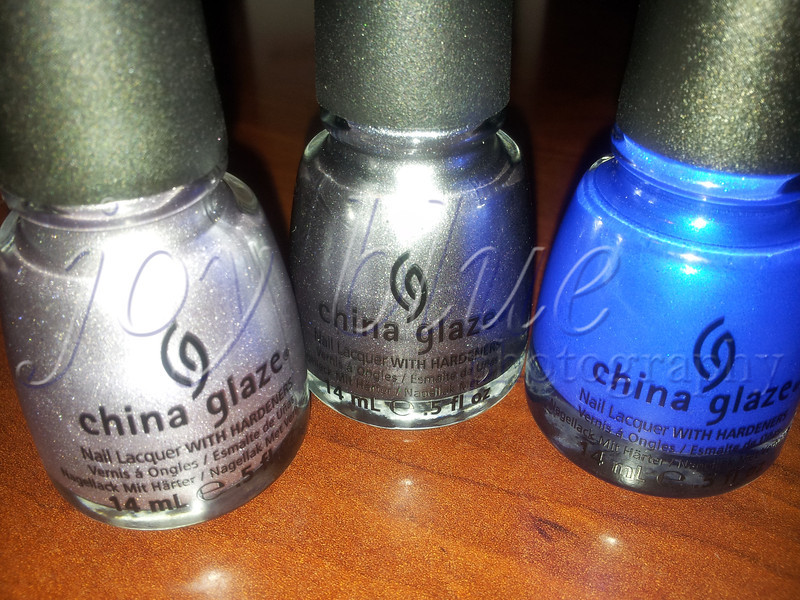 <b>Day 342—8 October 2012 Treat trio</b>  I've been disappointed in the reduced wearing power of OPI since they were sold and changed their formula. The new colors wear less than a week; my original colors last almost two weeks. On Susan's recommendation, I'm going to try China Glaze. Combining Ulta's buy 2/get 1 free sale with their $5 off a purchase of $10 or more coupon landed me a truly awesome treat at a bargain price.