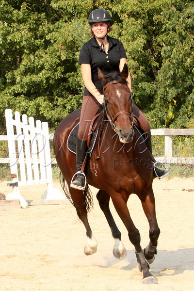 <b>Day 320—16 September 2012 Follow your bliss.</b>  My friends tend to be as passionate as I (quel surprise). One of Susan's joys is caring for and riding her horse, Caddy. I finally got to meet Caddy, and witness Susan in action. While I have had a pretty much lifelong fear of horses, watching (and shooting) Susan's process, and seeing her bliss, gave me a lot of joy. Thanks to S's DH, Ed, for hauling around my extra gear, and to both of them for answering my many questions. Caddy was a sweetheart—he didn't even nibble me when I offered him a mint!