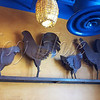 <b>Day 350—16 October 2012 Not worthy</b>  These whimsical (if misplaced, at Besa Mi Taco—a mediocre fast-food Mexican joint) characters are no Beyonce, the giant metal chicken (who has a giant following on Facebook). They leave me wanting. . . .