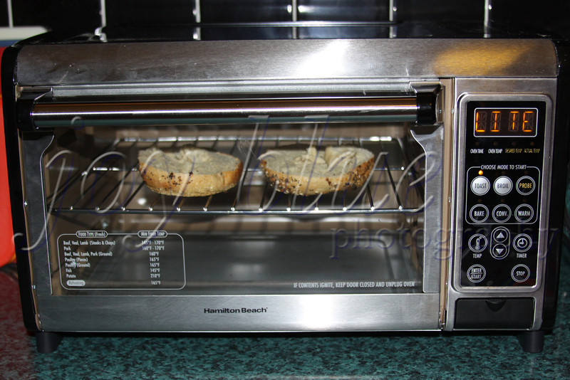 <b>Day 233—21 June 2012 Maiden bagel</b>  After exhaustive (and exhausting) research and consultation, we picked our new toaster (oven). Now, the real trials begin! Here is the first effort.