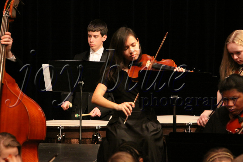 "<b>Day 118—27 February 2012 Guest musician</b>  Our high school's Orchestra occasionally requests guest percussionists from Symphonic Band. Tonight, Adam played timpani for their closing piece—""Windjammer,"" by Carl Strommen."
